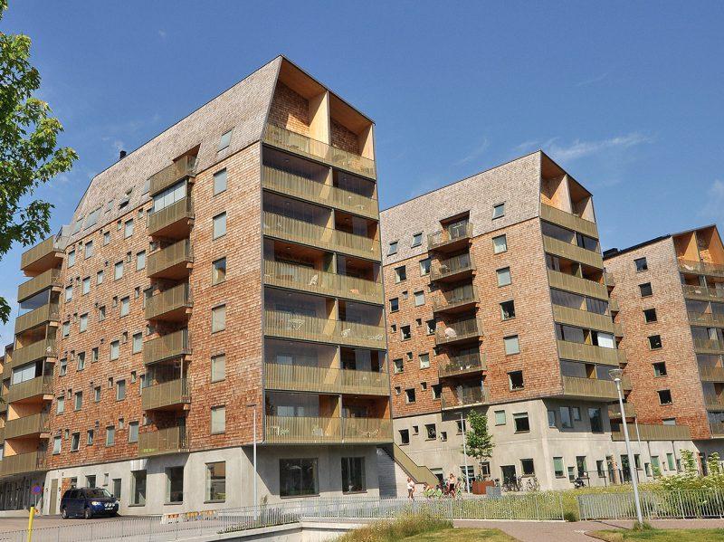 Kvarteret Geologen - Trummens strand - bostäder i massivträ