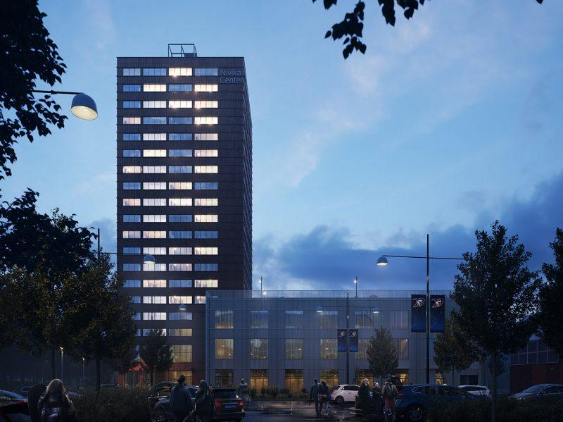 GBJ Bygg bygger Nivika Center i Växjö